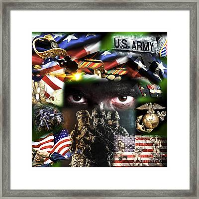 Foot Soldiers Framed Print by John Rizzuto
