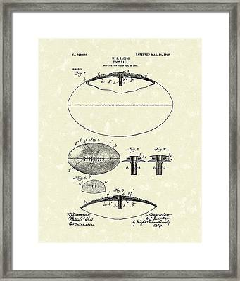 Football 1903 Jacobs Patent Art Framed Print