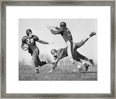 Football Action Shot, C.1940s Framed Print by H. Armstrong Roberts/ClassicStock