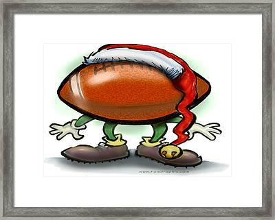 Football Christmas Framed Print by Kevin Middleton
