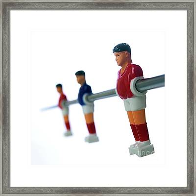 Football Figurines Framed Print by Bernard Jaubert
