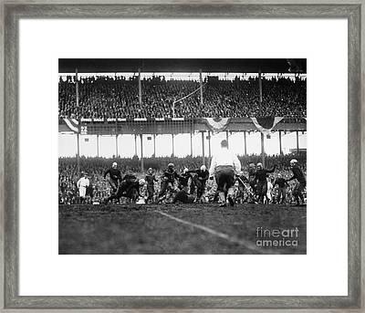 Football Game, 1925 Framed Print