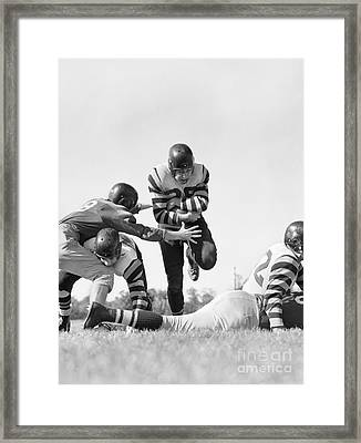 Football Game, C.1950s Framed Print by H. Armstrong Roberts/ClassicStock