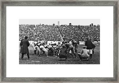 Football Game University Of Pennsylvania Vs Lafayette University C 1896 Framed Print by A Gurmankin