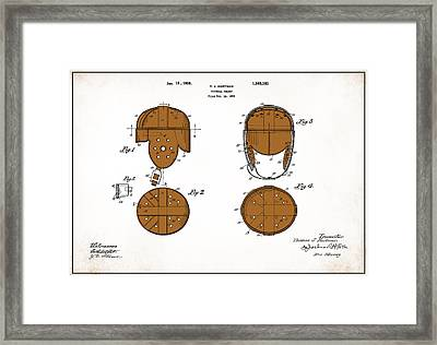 Football Helmet 1922 - White Framed Print