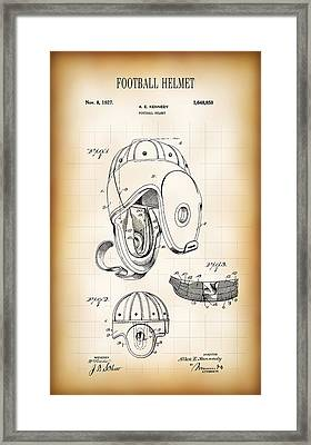 Football Helmet Patent 1927 Framed Print by Daniel Hagerman