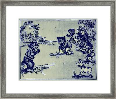 Football In The Park Framed Print by Bill Cannon