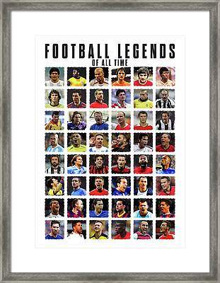 Football Legends Framed Print