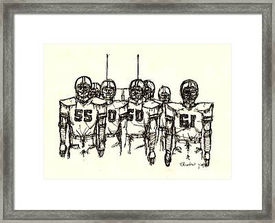 Football Nasties Framed Print by Brett H Runion