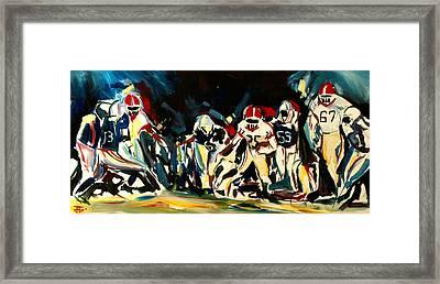 Football Night Framed Print