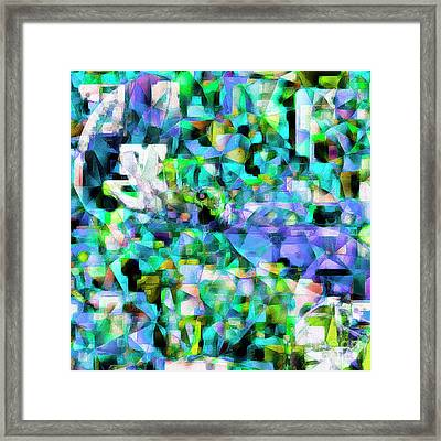 Football Odell Beckham One Hand Catch In Abstract Cubism 20170406 Square Framed Print by Wingsdomain Art and Photography