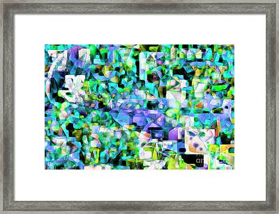 Football Odell Beckham One Hand Catch In Abstract Cubism 20170406 Framed Print by Wingsdomain Art and Photography
