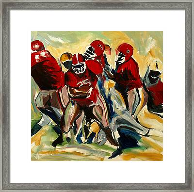 Football Pack Framed Print