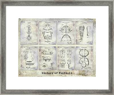 Football Patent History Framed Print