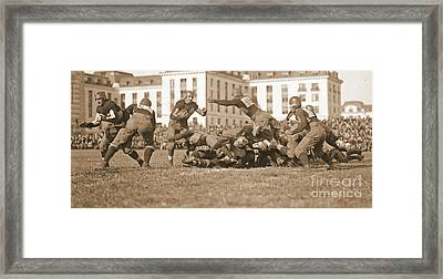 Football Play 1920 Sepia Framed Print by Padre Art