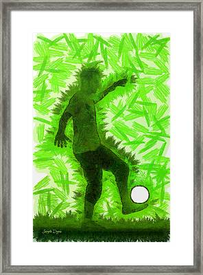 Football Player - Da Framed Print by Leonardo Digenio