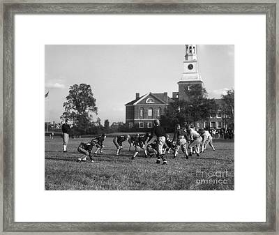 Football Practice, C.1930s Framed Print by H. Armstrong Roberts/ClassicStock