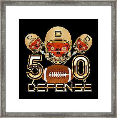 Football Sb 50 W-transparent Back Pick Color Except Print Framed Print by Bill Campitelle