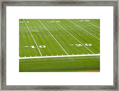 Football Stadium, Cornell University, Ithaca, New York Framed Print