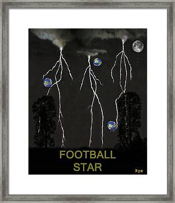 Football Star Framed Print by Eric Kempson