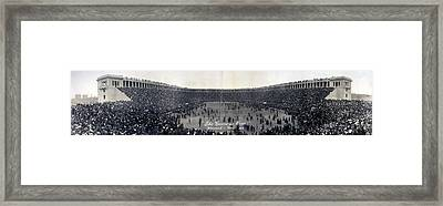 Football, The Game Is Over Panorama Framed Print by Everett