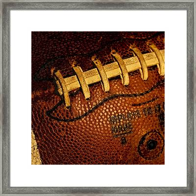 Football - The Gridiron Tool Framed Print by David Patterson