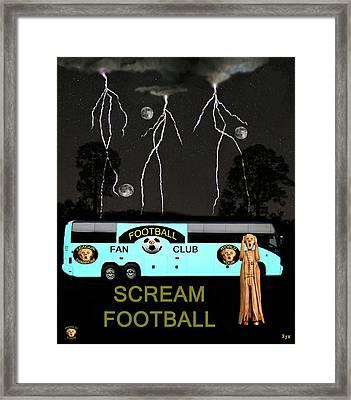 Football Tour Scream Framed Print by Eric Kempson