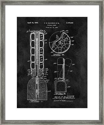 Football Training Equipment Patent Framed Print by Dan Sproul