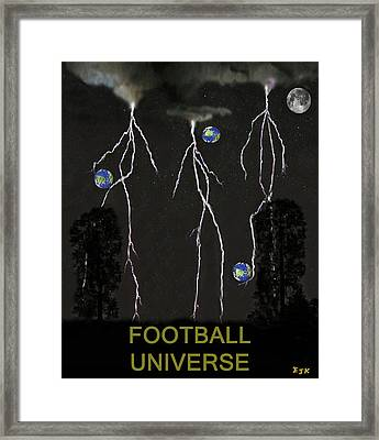 Football Universe Framed Print by Eric Kempson