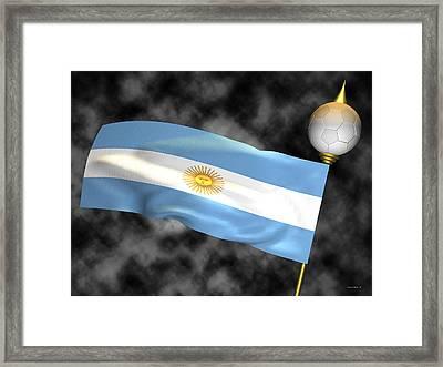 Football World Cup Cheer Series - Argentina Framed Print by Ganesh Barad