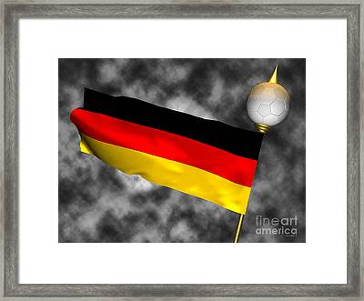 Football World Cup Cheer Series - Germany Framed Print by Ganesh Barad