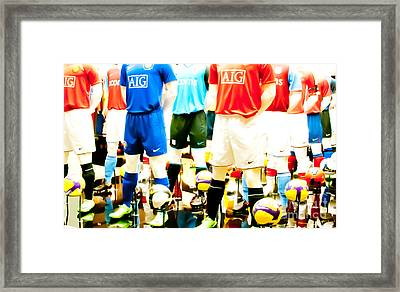 Footballers Unite Framed Print by Andy Smy