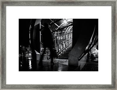 Framed Print featuring the photograph Footbridge Blur by John Williams