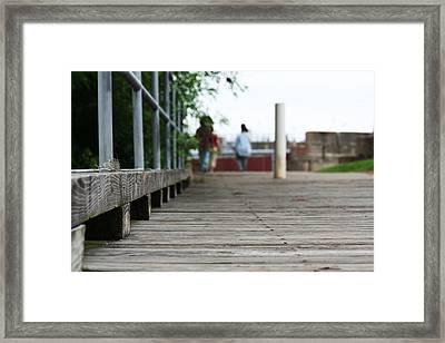 Footbridge Framed Print by David S Reynolds