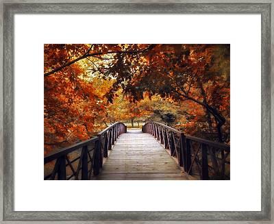 Footbridge Framed Print by Jessica Jenney