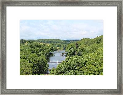Footbridge Over The River Tees Framed Print