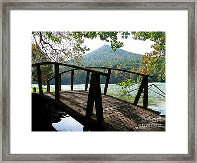 Footbridge Peaks Of Otter Framed Print by Thomas R Fletcher