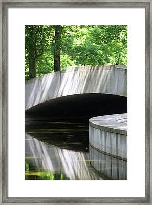 Footbridge5668 Framed Print by Carolyn Stagger Cokley