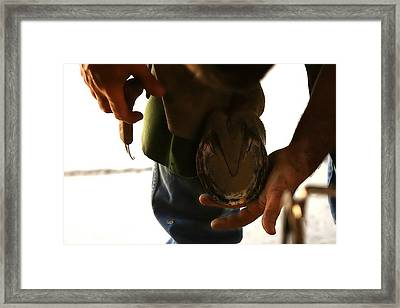 Footcare Framed Print by Angela Rath