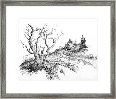 Foothill Lane Framed Print