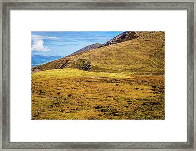 Framed Print featuring the photograph Foothill Of The Macgillycuddy's Reeks In Kerry Ireland by Semmick Photo