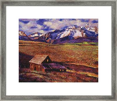 Foothill Ranch Framed Print by David Lloyd Glover