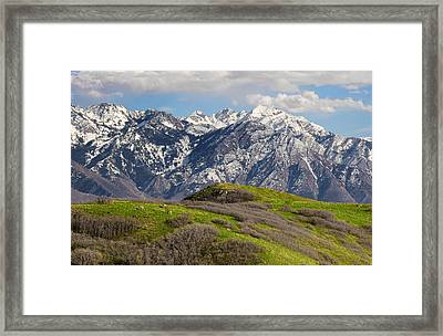 Foothills Above Salt Lake City Framed Print