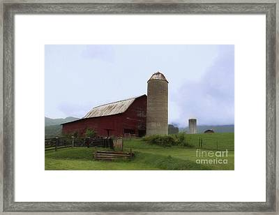 Foothills Farm Framed Print by Benanne Stiens