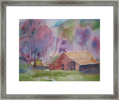 Foothills Farm Ll Framed Print