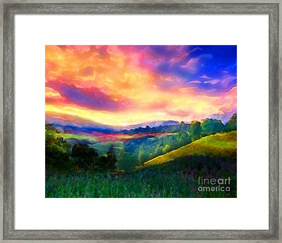 Foothills Framed Print