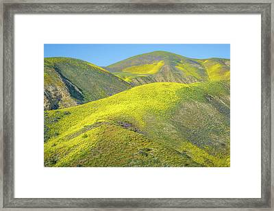 Foothills, Temblor Range Framed Print by Joseph Smith