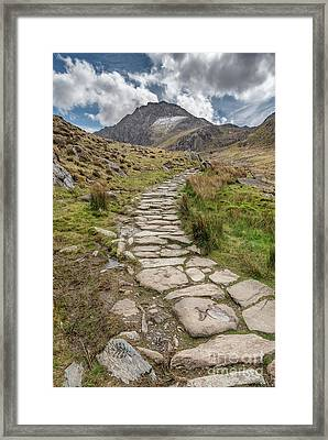 Footpath To Tryfan Framed Print by Adrian Evans