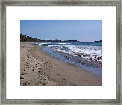 Footprint In The Sand Framed Print by James Johnstone