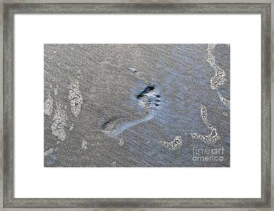 Framed Print featuring the photograph Footprint On The Sand Beach by Yurix Sardinelly